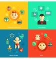 Children concept flat icons vector