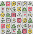 Pattern with hearts and figures vector