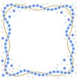 Snowflakes border vector