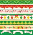 Elegant christmas ribbons vector