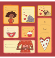 Gift tags with love vector