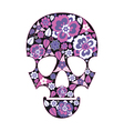 Skull with flowers vector