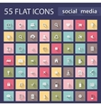 Set of flat icons for web vector