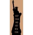 New york travel card vector