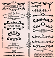 Set of calligraphic design elements for decoration vector