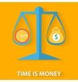 Time is money flat design concept vector