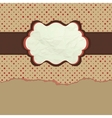 Vintage polka dot design vector
