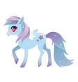 Colorful pony with wings vector