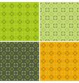 4 retro seamless pattern vector