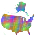 Motley map of usa vector