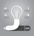 Light bulb with pencil icon concept vector