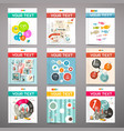 Brochure - books - flyers or posters covers set vector