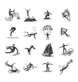 Extreme sports icons sketch vector