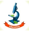 Education icon microscope vector
