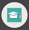 Graduate hat education sign vector