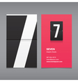 Business card number 7 vector