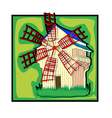 Ecological old country windmill vector