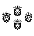 Heraldry lions with crowns vector