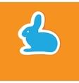 Abstract cartoon easter card with cute bunny vector