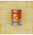 Retro tomato soup can vector