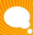 Bubble for information on a orange background vector