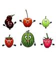Happy friendly fruit vector