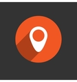Map pointer flat single icon vector