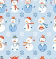 Snowmen seamless background vector