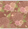 Pastel valentines day floral seamless pattern vector