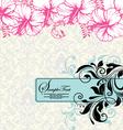 Wedding card or invitation vector