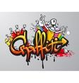 Graffiti characters print vector