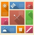 Colored icons for sewing supplies with place for vector