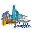 Seattle doodles vector