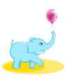 Cute elephant with ballon vector