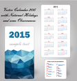 Calendar usa holidays blue vector