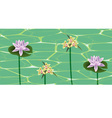 Flowers on a water surface vector