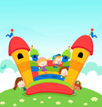 Jumping castle vector