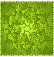 Green floral ornament background vector