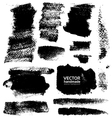 Strokes of black ink on textured paper vector