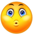 Smiley emoticons cartoon surprise expression vector
