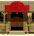 Wild west saloon vector