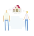 Young couple dreaming to their house vector