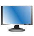 Blue lcd monitor vector