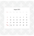 Calendar page for august 2015 vector