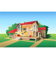 Country house plan vector
