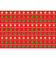 Seamless horizontal pattern of christmas symbols vector
