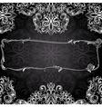Romantic black and white vintage invitation vector
