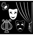 Collection of theatrical characters vector