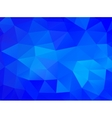 Triangle background blue polygons vector