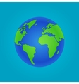Isolated globe icon and green map vector